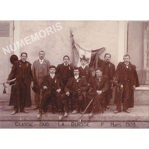 conscrits de la Buisse de 1908