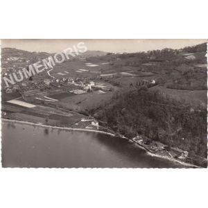 21368 le lac de Paladru-Charavines (Isère) les villas du Petit-Bilieu et le Bois-d'Amour