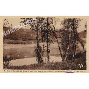 L'Isère pittoresque le lac de Paladru (long 5 km 250, larg 1 km) bords du lac entre Bilieu et Paladru