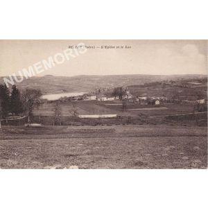 Bilieu (Isère) l'église et le lac