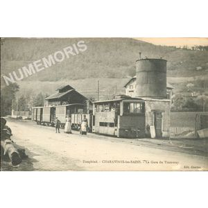 Dauphiné Charavines-les-Bains la gare du tramway