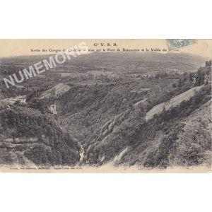 Cie VSB sortie gorges de Chailles vue sur le Pont de beauvoisin et la vallée du guiers