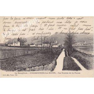 GD 258 le  Dauphiné Charavines-les-Bains la source de la Fures