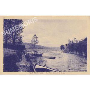 4654.8 Charavines Canal du deversoir et le Lac