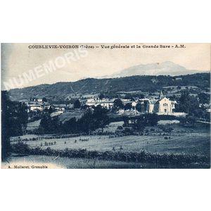 Coublevie-Voiron (Isère) vue générale et la Grande Sure A.M.