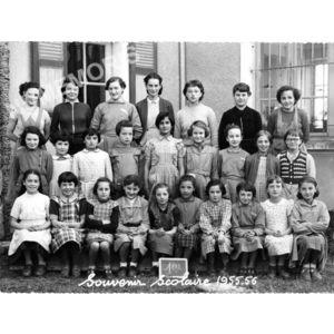 Coublevie : école en 1955-56