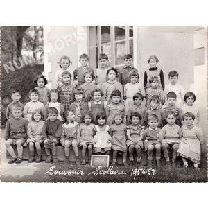 Coublevie : école en 1956-57