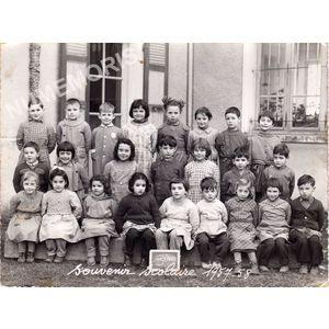 Coublevie : école en 1957-58