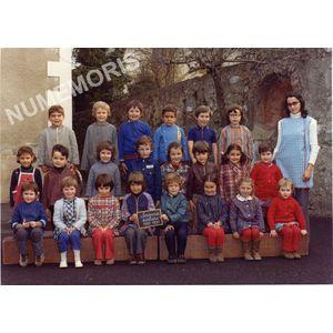 Coublevie : école en 1972-73