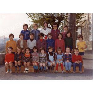 Coublevie : école en 1974-75