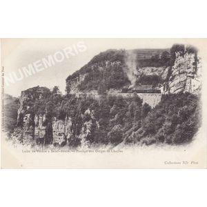 071 Ligne de Voiron à Saint Béron passage aux gorges de Chailles