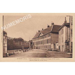 Moirans (Isère) château de Moirans grille en fer forgé (XVIIIe siècle) (ancien hôtel des Frères Paris)