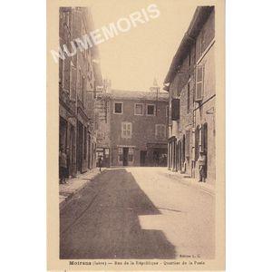 Moirans (Isère) rue de la République quartier dela Poste