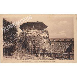 Moirans (Isère) ruines d'une tour romaine (IIIe siècle)