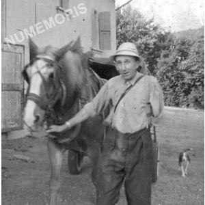 Bilieu : Désiré Belmain et son cheval bijou