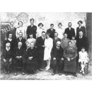 Bilieu : mariage Deschaux en 1929