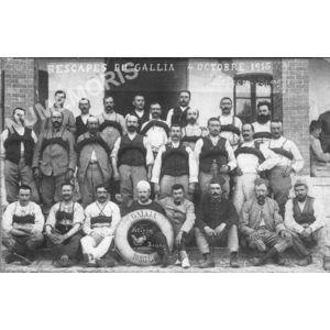 Bilieu : rescapés du Gallia à Bizerne avec Pierre Frappat en 1916