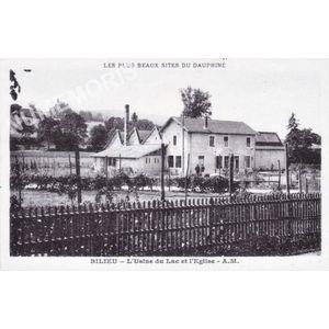 Bilieu l'usine du l'ac et l'église A.M.1945