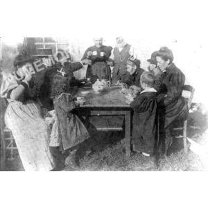 Bilieu : partie de cartes avant 1914 chez Deschaux