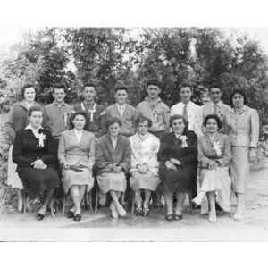conscrits de Charancieu en 1957