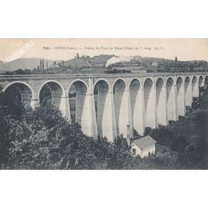 2444 Rives (Isère) viaduc du Pont du Boeuf (haut. 45 m, long. 275 m)
