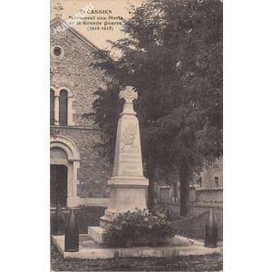 GD St-Cassien monument aux morts de la Grande Guerre (1914-1918)