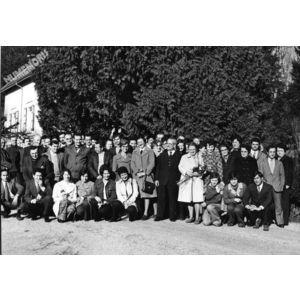 les employés de l'usine de tissage de Saint Nicolas de Macherin en 1974