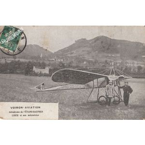 Voiron aviation aérodrome de l'étang-Dauphin Liger et son mécanicien