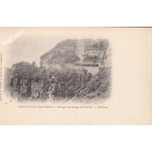 Ligne de Voiron à Saint Béron passage aux gorges de Chailles ND Phot