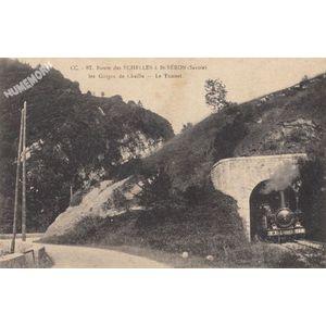 Cc 87 route des Echelles à St-Béron (Savoie) les gorges de Chaille le tunnel