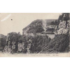 071 Ligne de Voiron à Saint Béron passage aux gorges de Chailles ND phot
