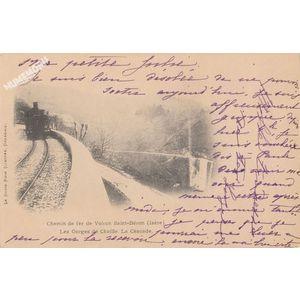 chemin de fer de Voiron St-Béron les gorges de Chailles la cascade