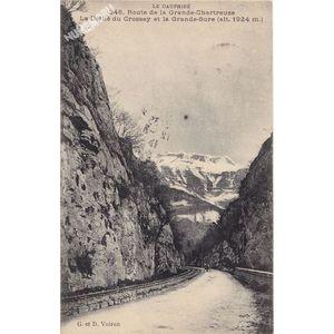 GD 246 le Dauphiné route de la Grande-Chartreuse le défilé du Crossey et la Grande-Sure (alt. 1924 m)
