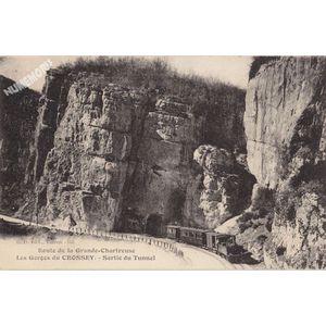 GD 555 route de la Chartreuse les gorges du Crossey sortie du tunnel