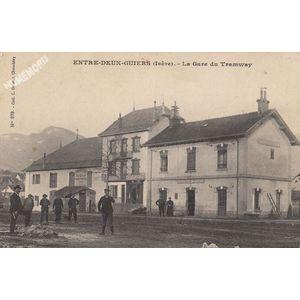 Entre-Deux-Guiers (Isère) la Gare du tramway