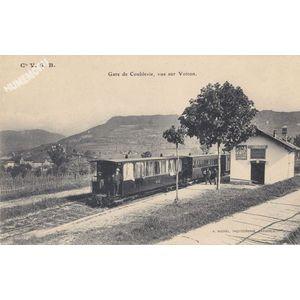 Cie VSB gare de Coublevie, vue sur Voiron