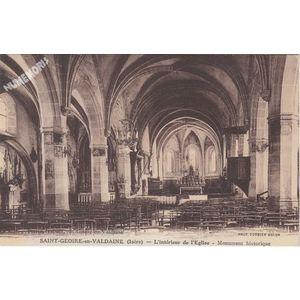 Saint-Geoire-en-Valdaine (Isère) l'intérieur de l'Eglise Monument historique