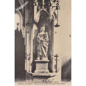 009 St-Geoire-en-Valdaine (Isère) intérieur de l'Eglise Statue de la Vierge (Monument historique)