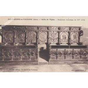 Saint-Geoire-en-Valdaine (Isère) stalles de l'Eglise Monument historique du XVe siècle