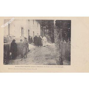 Derniers Pères Chartreux entrant à l'Hôtellerie des Dames pour y être interrogés