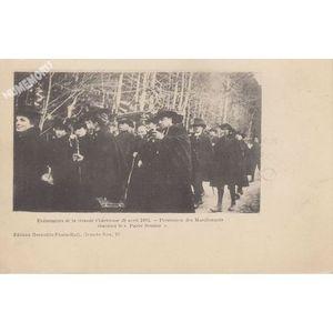"""Evènements de la Grande Chartreuse 29 avril 1903 Procession des Manifestants chantant le """"Parce Domine"""""""