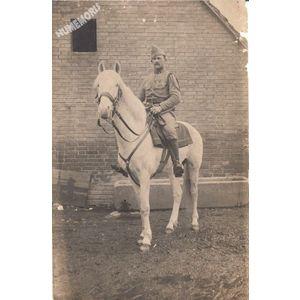 carte-photo d'un militaire de Tolvon en 1911