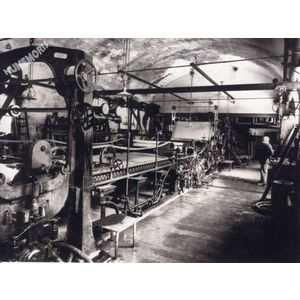 Rives : la Grande Fabrique machine à papier en 1930