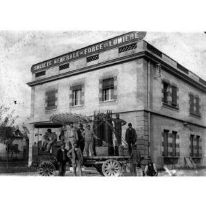 tranformateur électrique en 1911 : transport de grenoble à Pont de Claix