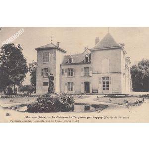 Moirans (Isère) le Château du Vergeron par Sappey (façade du Pêcheur)