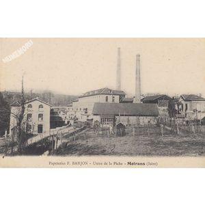 Papeteries F. Barjon usine de la Piche Moirans (Isère)