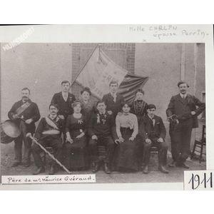 Saint Blaise du Buis : conscrits en 1911