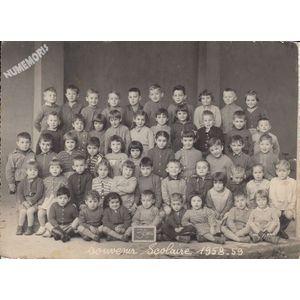 la Buisse : école en 1958-59, les petits