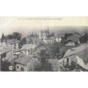 2621 la Buisse (Isère) le Bourg Qartier de l'église