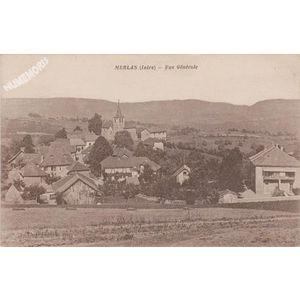 Merlas (Isère) vue générale
